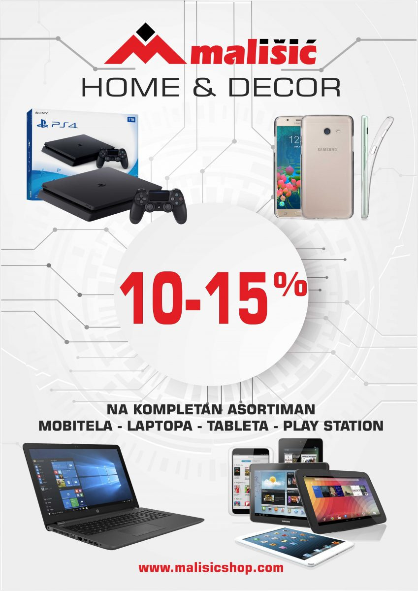 POPUST 10-15% NA LAPTOPE, MOBITELE, TABLETE..