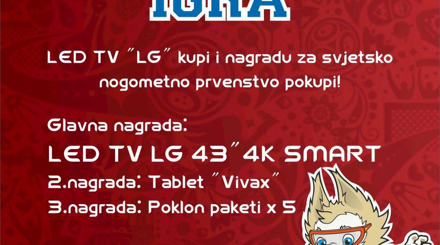 NAGRADNA IGRA – LED TV ˝LG˝ kupi i nagradu za svjetsko nogometno prvenstvo pokupi!